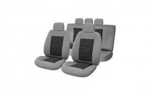 Huse scaune auto compatibile SKODA Fabia II 2007-2014 PLUX (Gri UMB3)