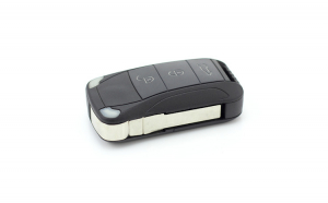Porsche Cayenne Carcasa cheie tip briceag, 3 butoane
