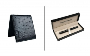 Set cadou pentru barbati portofel piele + pix ADRIEN MARAZZI, la 190 RON in loc de 680 RON