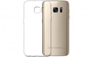 Husa slim silicon Samsung Galaxy S6 Edge Transparenta