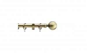 Galerie din otel, pentru perdea, 180 cm, grosime 28 mm, auriu antic , Vivo, GF28/180ANTBR