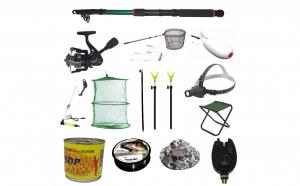 Pachet echipat complet pentru pescuit