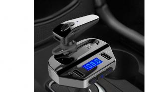 Modulator FM MP3 Player + handsfree cu casca bluetooth V4.2 V6