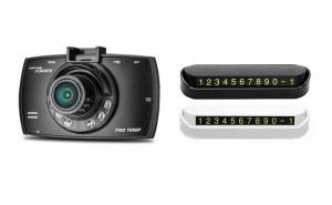 Camera auto foto-video cu infrarosu, senzor miscare, ecran 2.4inch + card de parcare CADOU