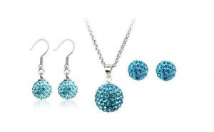 Set bijuteriii SHAMBALA bleo-aquamarine
