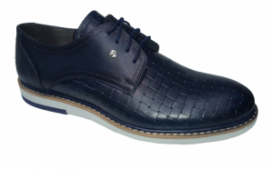 Pantofi bleumarin barbatesti, din piele naturala, pentru primavara-toamna
