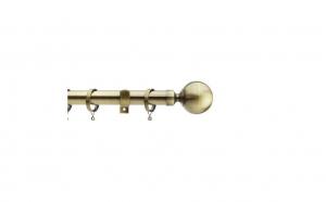 Galerie din otel, pentru perdea, 240 cm, grosime 28 mm, auriu antic , Vivo, GF28/240ANTBR