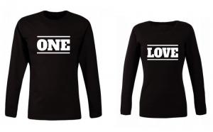 Set de bluze negre One Love COD ST529