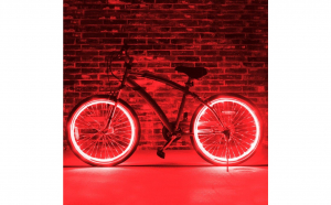 Kit luminos tuning roti bicicleta, Rosu
