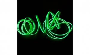 Fir cu lumina ambientala pentru bord, flexibil, 2m, neon ambiental verde