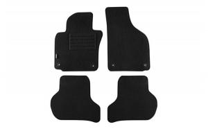 Set 4 covorase auto din mocheta, negru, compatibil cu compatibil cu SKODA Octavia II Limousine 01/2008-01/2013, Kombi 01/2008-04/2013-