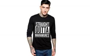 Bluza barbati neagra - Straight Outta Maramures