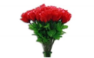 Trandafir artificial 47 cm, Sarbatori Pascale, Home and Deco