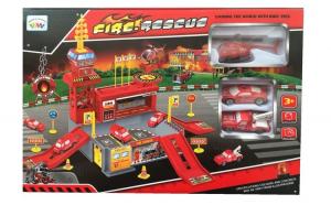 Set de joaca Statie de pompieri cu 26 piese