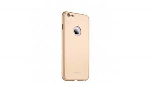 Husa Apple iPhone 6/6S Plus IPAKY Full Cover 360 Auriu + Folie Cadou