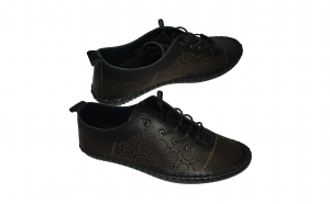 Pantofi perforati dame din piele natural