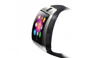 Ceas smartwatch q18, suport sim, 1.54-inch, bluetooth, camera foto, metalic, negru