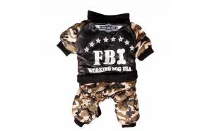 Haina groasa cu blana pentru catei, FBI, marimea XXL