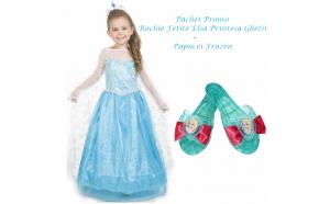 Rochie fetite Elsa 651401 + Papucei Frozen 82181