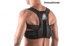 Corector de spate reglabil Pro InnovaGoods. Ideal pentru a corecta obiceiurile posturale gresite si pentru a pastra o postura verticala corecta.