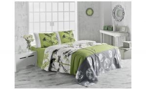 Cuvertura de pat,100%bumbac, 200x230cm, Victoria, model Belezza verde