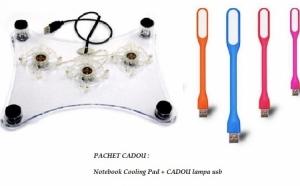 Notebook cooling Pad + CADOU lampa usb la 28 RON in loc de 58 RON