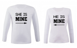 Set de bluze albe She/He is mine COD