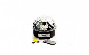 Glob Lumini Disco Pentru Petreceri Soundvox™, Mp3 Player, Boxa, Telecomanda, Negru
