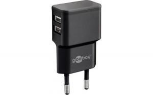 Incarcator de retea dual USB 2.4 A negru
