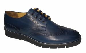 Pantofi barbati, din piele naturala pentru toamna-iarna - negri si albastri