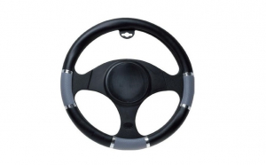 Husa volan t-age gri/negru 37-39 cm 8730, Automax