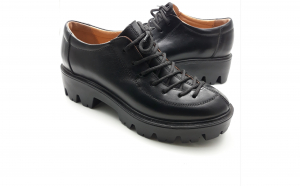 Pantofi cu siret, piele naturala