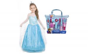 Rochie fetite Elsa 651401 + Set de coafura  81171 Frozen
