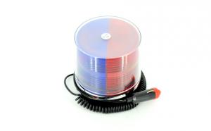 Girofar LED rosu - albastru 12V