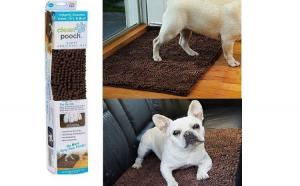Covoras pentru animale super, absorbant, Clean Pooch Mat, culoare maro