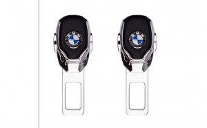 Set 2 buc Anulator / Blocator Sunet Centura Piele Chrome diverse marci auto