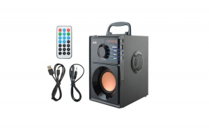 Sistem Audio Portabil Bluetooth cu Subwoofer Incorporat si Radio FM MP3 Player cu Telecomanda