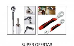 Oferta limitata!!Cheie tubulara universala din otel inoxidabil 7-19 mm + set de chei universale