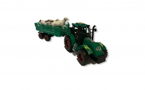 Tractor cu remorca si figurine animale