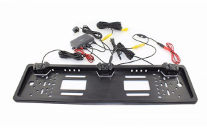 Suport auto de numar camera si senzori