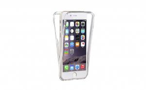 Husa 360 Grade Silicon Fata/Spate Iphone 6/6S, Transparent