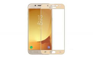 Folie Sticla Samsung Galaxy J7 2017 Flippy Full Face Auriu