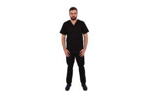 Costum medical negru unisex
