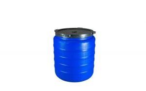 Butoi din plastic 350L,albastru ,inchidere prin infiletare.