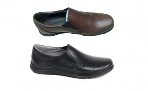 Pantofi casual barbati piele naturala,SWBSA, 1413 ,MARO SI NEGRU