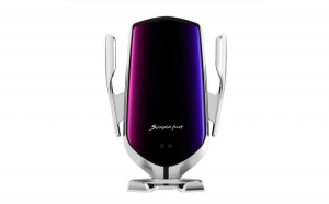 Suport Incarcator Telefon Auto R1 Wireless InfraRosu 360° Fast Charge Universal Android si iOS 4 - 6.5 inch