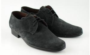 Pantofi barbati piele naturala (Intoarsa) casual-eleganti GRI inchis ( Cod: P34G ) - Made in Romania, la doar 147 RON in loc de 299 RON