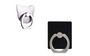 Suport telefon universal Flippy Ring cu prindere adeziva Negru