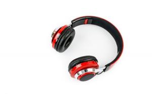 Casti Bluetooth Soundvox™ TM-021 cu microfon, Over The Ear, Radio FM, Rosu-Negru
