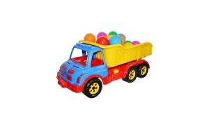 Camion Mare Plastic 60 Cm + Mingiute